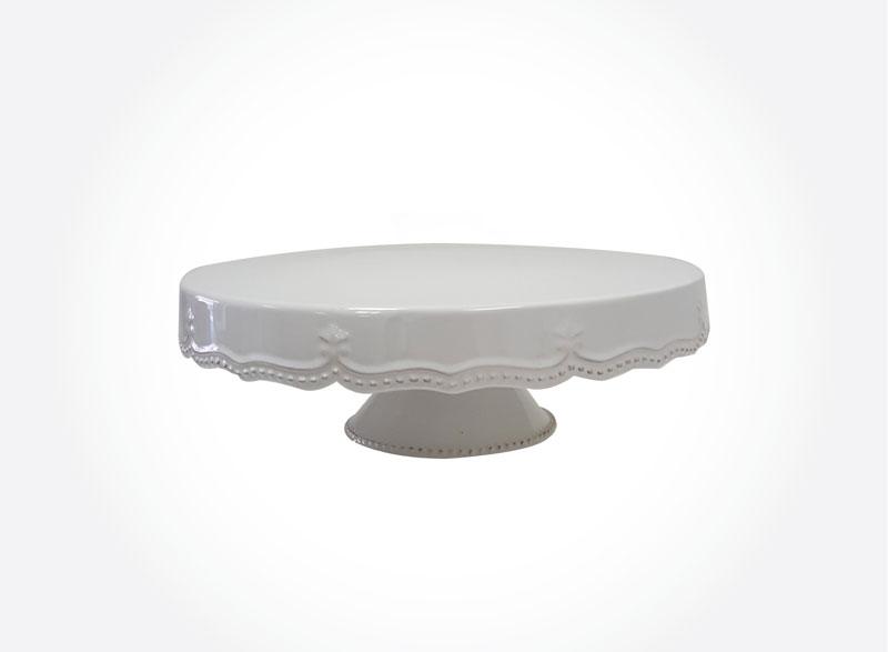 Cake Stand- Ceramic Fancy Trim