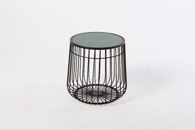 Wire Frame Coffee Table.Black Wire Frame Side Table With Green Marble Top
