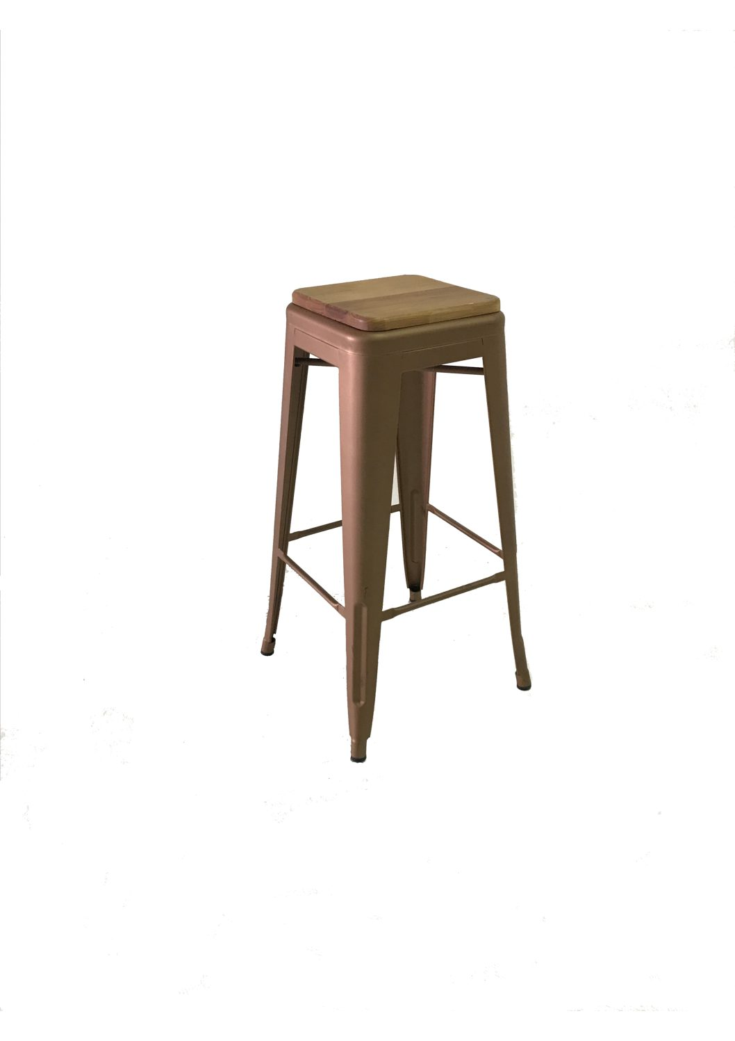 Copper Metal Cocktail Bar Stool Hire Society