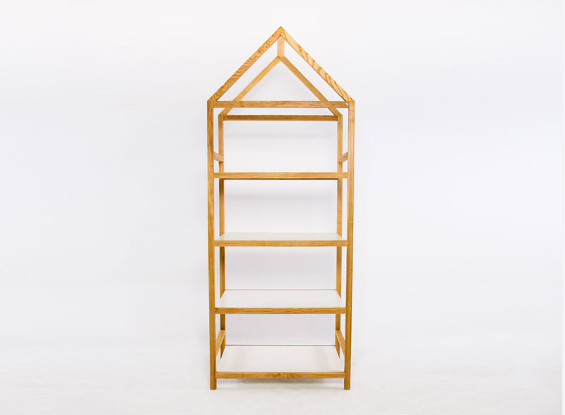 Wooden 'House-shaped' Bookshelf