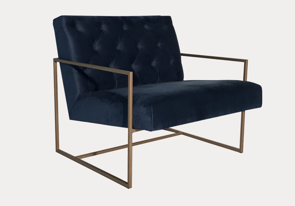 Hire Society Black Velvet Armchair