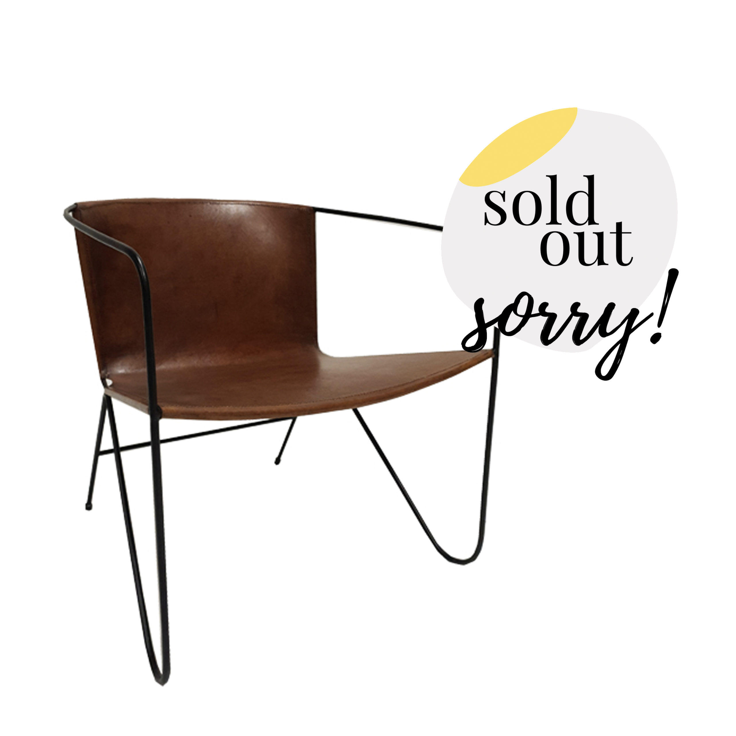 Tan Leather Armchair | Hire Society